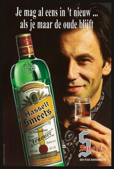 Affiche 'Je mag al eens in 't nieuw...' voor Smeets, Hasselt, ca.1994-1995