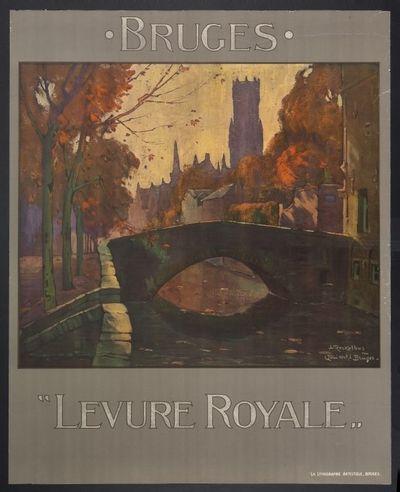 Affiche 'Levure Royale, Bruges' voor Nederlandsche Gist- en Spiritusfabriek, Brugge, ca. 1905-1910