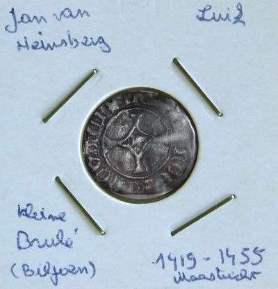 Kleine Brûlé, geslagen te Maastricht, 1419-1455, Jan van Heinsberg, biljoen