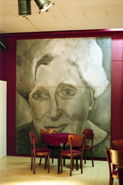 Portretschilderij inkomhal Theater Corso