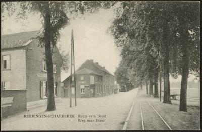 Beeringen-Schaerbeek Route vers Diest Weg naar Diest