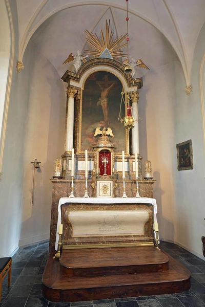 Jezus aan het kruis met Maria Magdalena