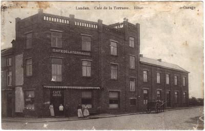 Landen, Stationsplein Café Beyrus - Café de la Terrasse Hotel Garage
