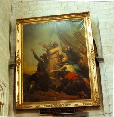 Godfried van Bouillon en Pieter de kluizenaar in het zicht van Jeruzalem