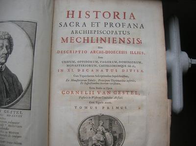 boek Historia sacra et profana Archiepiscopatus Mechliniensis 1625