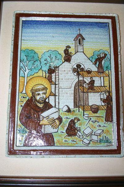 Franciscus herstelt de kerk