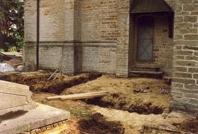 Sint-Pietersplein - Aanbouw stookplaats St-Pietersbandenkerk