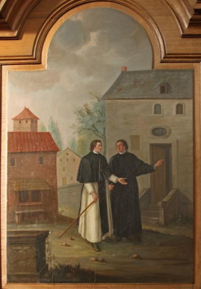 Johannes van Eppa wijst het landgoed aan