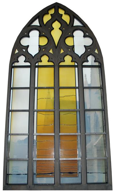 glas-in-loodraam de Heer is mijn licht en mijn leidsman