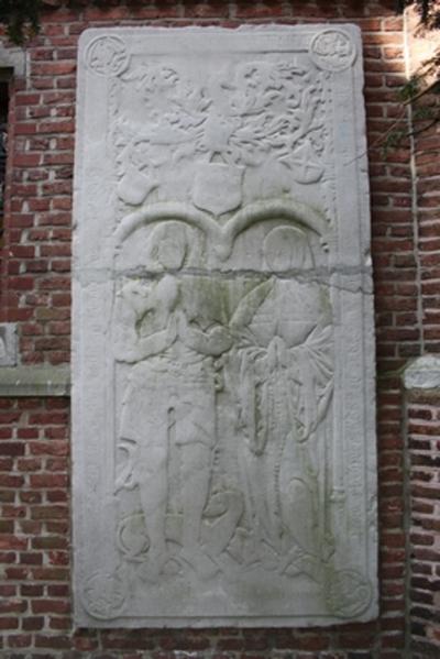 Grafsteen van Henrick van Grevenbrouck en Everardina Surlet de Chokier