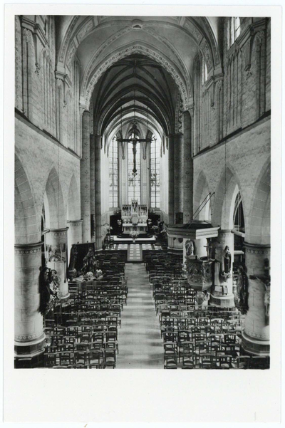 Balen-Neet Sint-Andreaskerk, binnen aanzicht vanuit oksaal