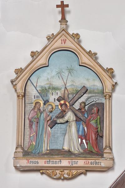 Jesus ontmoet zijne moeder