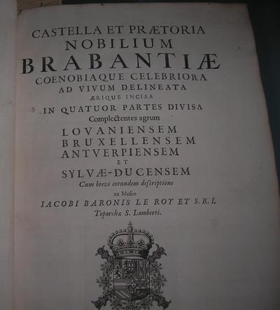 boek Castellum et Praetoria nobilium Brabantiae 1696