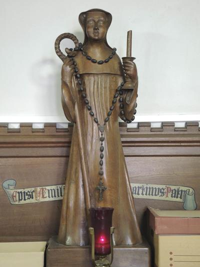 houten beeld H. Wivina