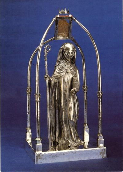 beeld H. Gertrudis, met reliek