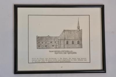 Tekening van de kapel