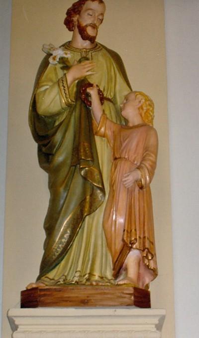 H. Jozef voedstervader met kind Jezus