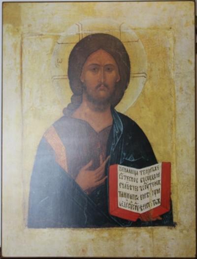 Christus met het Heilig Schrift