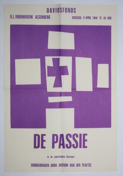 Affiche voor passievoordracht in de kerk van Alsemberg
