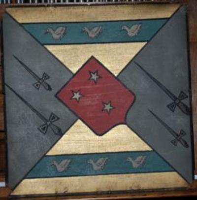 Origineel wapenschild van Charles Eugène Du Monceau.