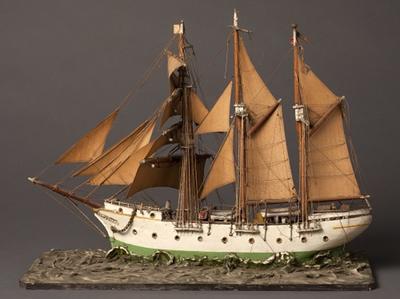 Schaalmodel van het schoolschip Mercator