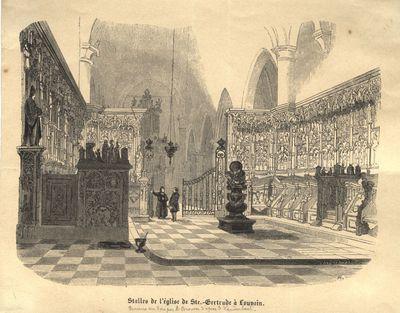 Stalles de l'église de Ste.-Gertrude à Louvain