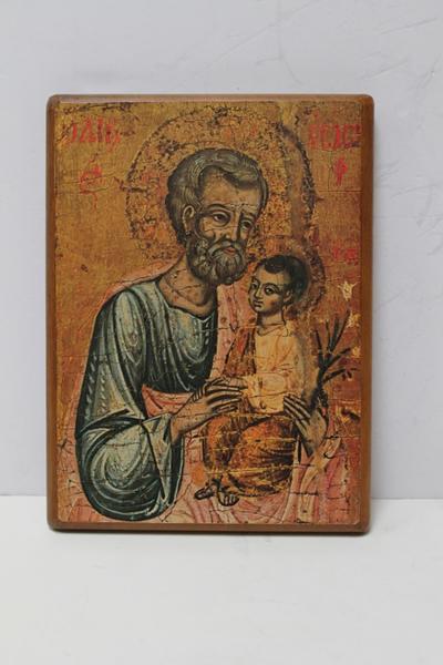 Een icoon van Sint Jozef