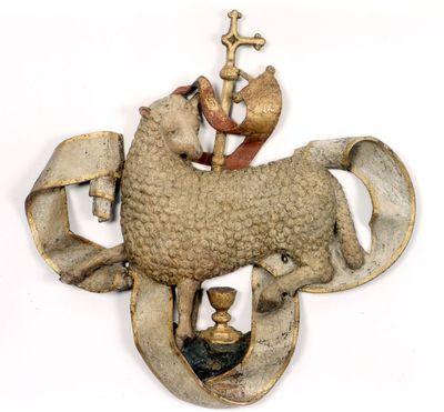 Het Lam Gods van het triomfkruis in de Sint-Pieterskerk
