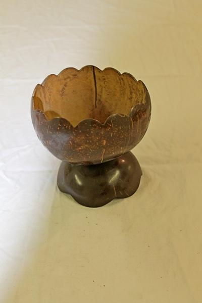 Beker uit kokosnoot