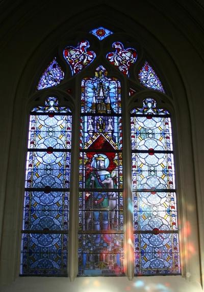 Glasraam met de Heilige Hubertus