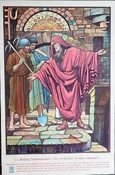 Prent 32: De werklieden in de wijngaard