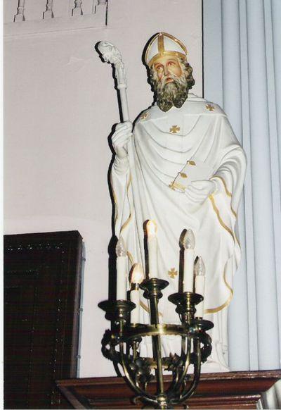 beeld van heilige Augustinus als bisschop