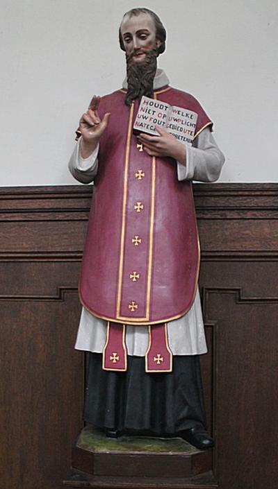 Beeld van de heilige Franciscus van Sales