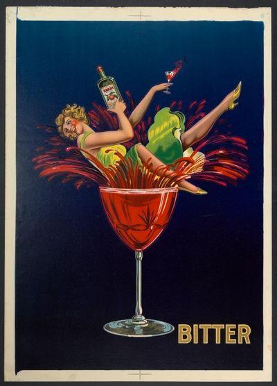 Affiche 'Bitter' voor stokerij O. Neef, Luik, 1928-1929