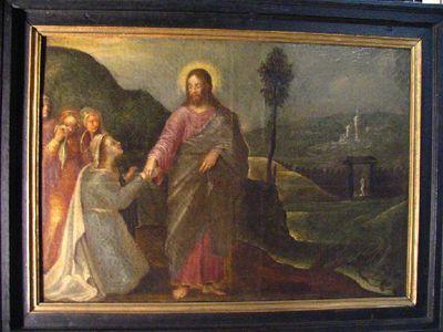 Het afscheid van Jezus van Maria