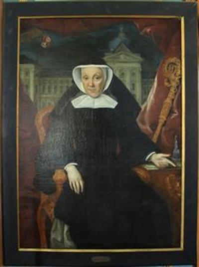 Portret van Augustina van hamme, abdis van Herkenrode (1772-1790)