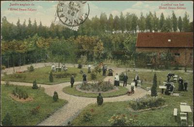 Lanklaer . Jardin anglais de l'Hôtel Beau-Séjour Lusthof van het Hotel Beau Séjour