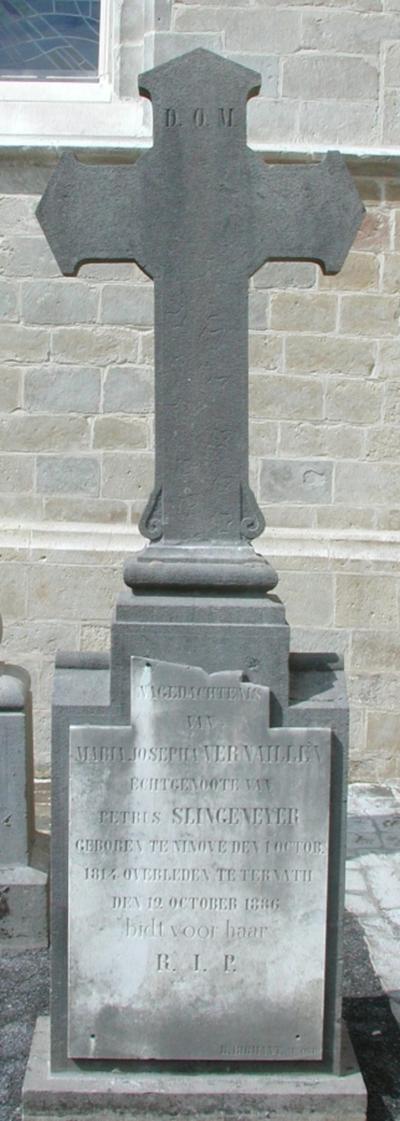 grafmonument Vernaillen = echtgenote Slingeneyer