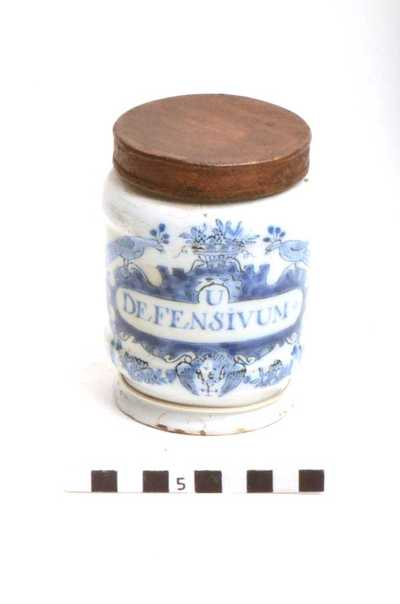 Delfts blauwe apothekerspot; U DEFENSIVUM - PULV: FOL: SENNÆ