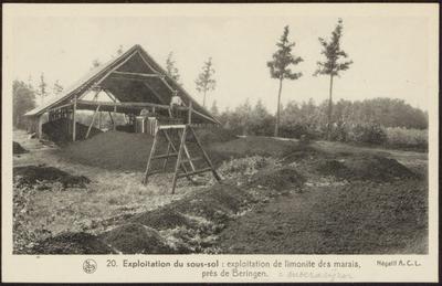 20. Expmoitation du sous-sol : exploitation de limonite des marais, près de Beringen.