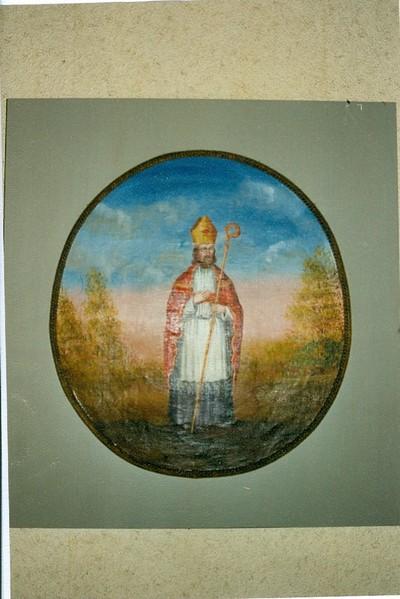 2 ronde schilderijen H Hubertus