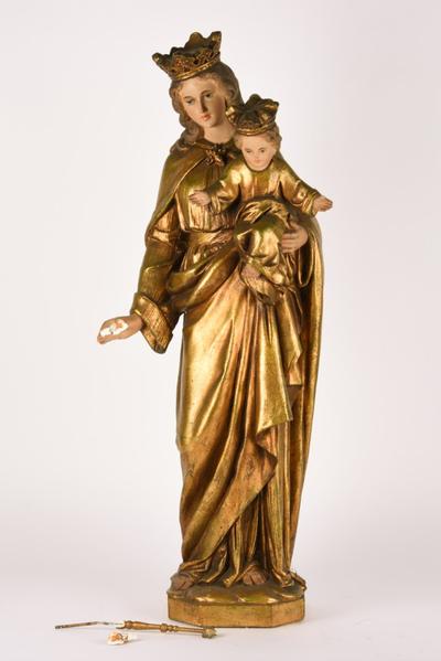 Mariabeeld met Jezus op de arm