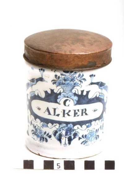 Delfts blauwe apothekerspot; C ALKER - PULV: AROMATIC:
