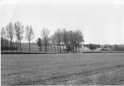 Landschapszicht met hoeve in Sint-Kwintens-Lennik