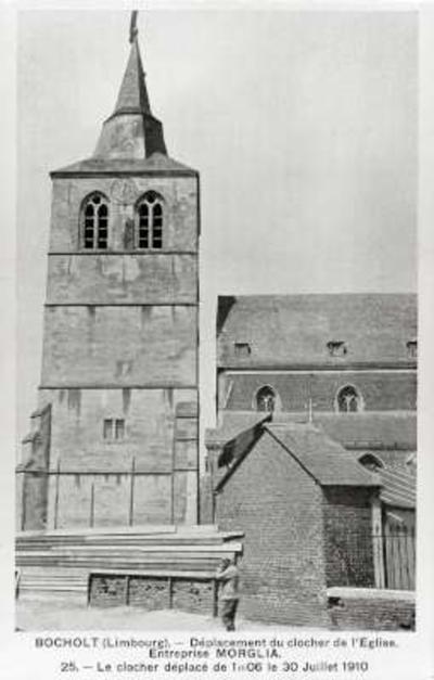 BOCHOLT (Limbourg). - Déplacement du clocher de l'église. - Entreprise MORGLIA