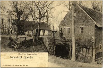 Slagvijvermolen te Sint-Kwintens-Lennik