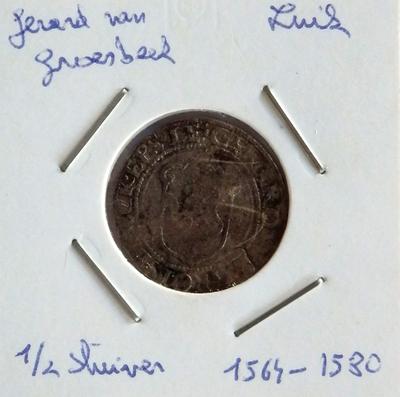 Halve stuiver, 1564-1580, Gerard van Groesbroek, biljoen