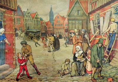 54. Het economisch verval van Gent op het einde van de XIVe eeuw