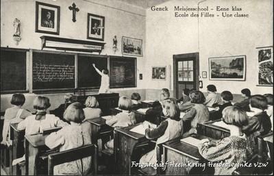 Genck Meisjesschool - Eene klas