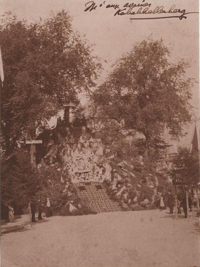 Foto: straatversiering: Havermarkt (Virga Jessefeesten, Hasselt, 1884)